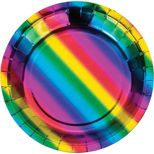 Rainbow Foil Happy Birthday Tableware