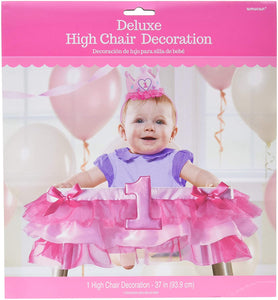Pink Deluxe High Chair Decoration