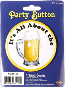 Oktoberfest Beer Party Button