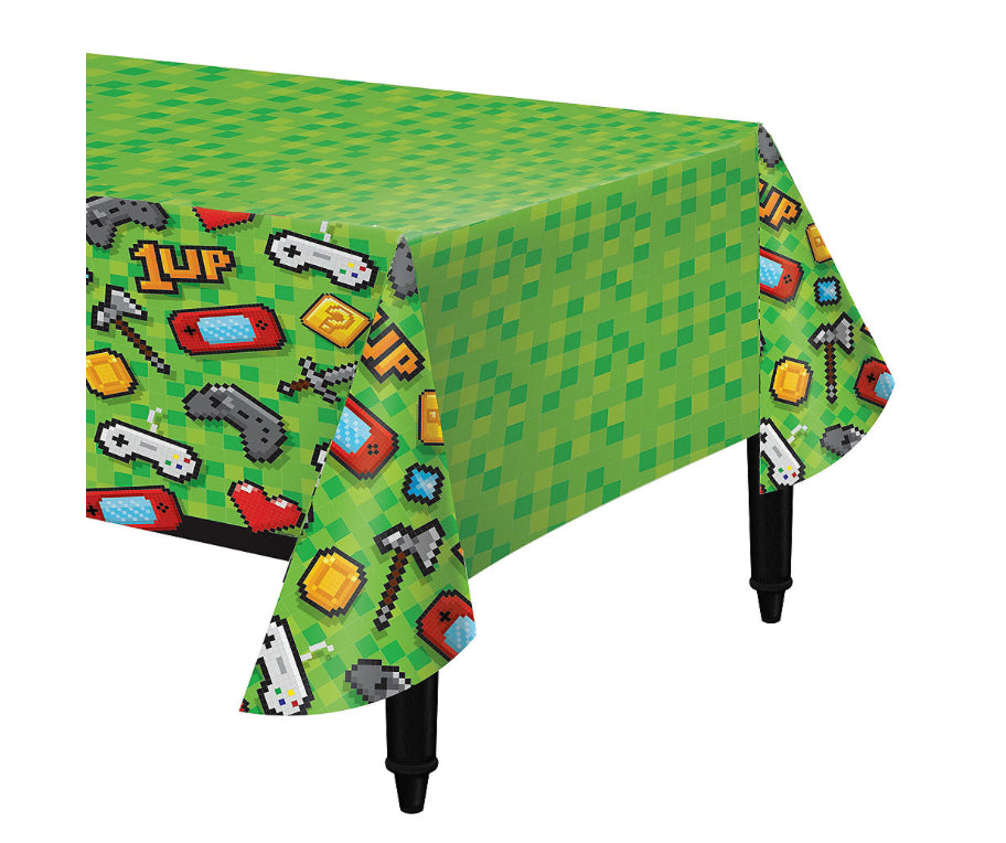 Game On Plastic Table Cover