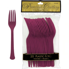 Load image into Gallery viewer, Premium Plastic Forks 20ct
