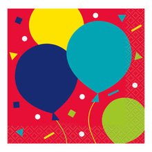 Load image into Gallery viewer, Balloon Party Birthday Bev Napkins