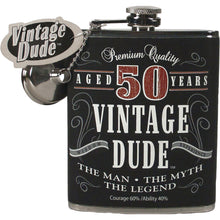 Load image into Gallery viewer, Vintage Dude Flask