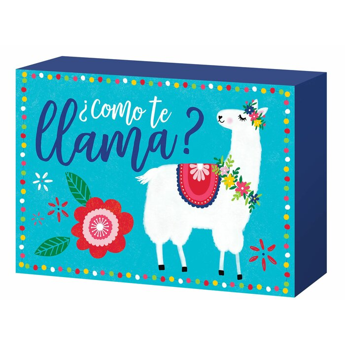 Llama Party Wooden Sign
