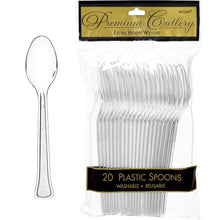 Load image into Gallery viewer, Premium Plastic Spoons 20ct
