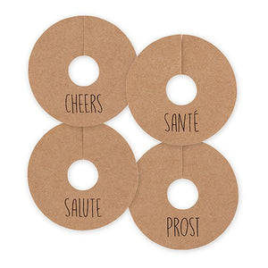 Wine Glass Tags - Assorted Cheers, 16 pcs.