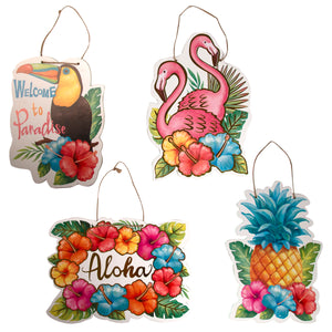 Luau Party Hanging Plaque
