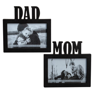 Photo Frame Mom/Dad Black 4X6