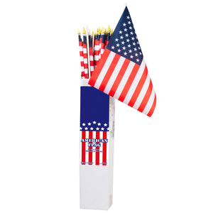 American Flag 12X18 On 32 Inch Wooden Pole