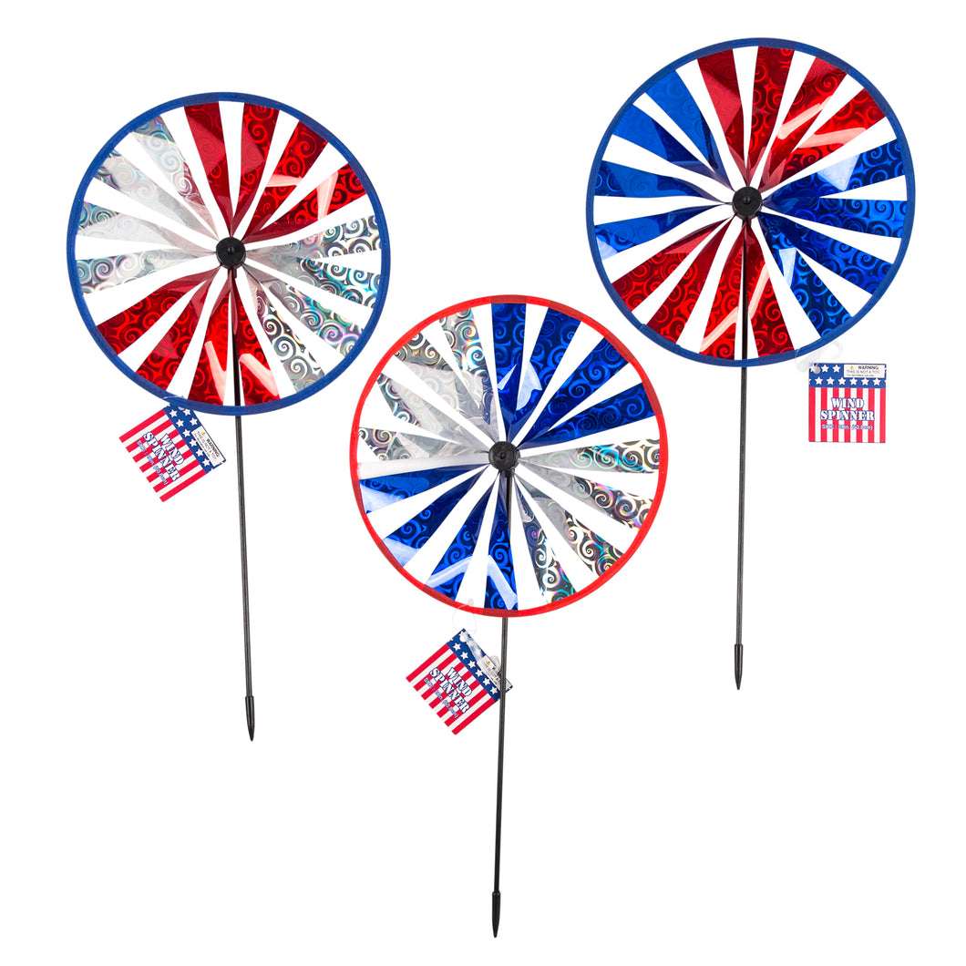Wind Spinner Yard Stake Patriot