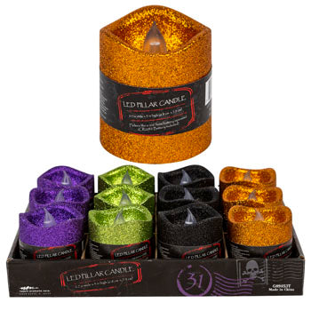 LED Flicker Candle Glitter