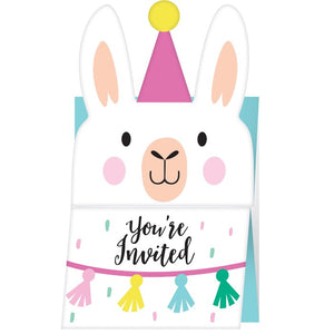 Llama Party Invitations, 8 ct.
