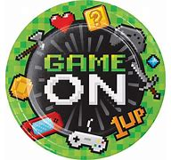 Game On plates 8.75""