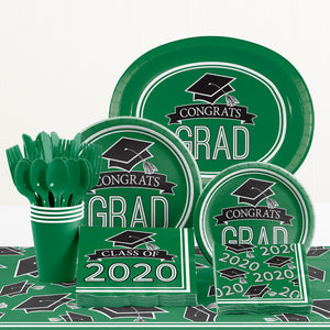 Congrats Grad Beverage Napkin 36ct Green