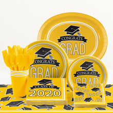 Load image into Gallery viewer, Congrats Grad Dinner Plates 18ct Yellow