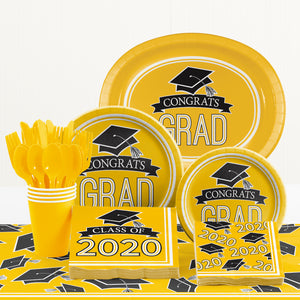 Congrats Grad Lunch Plates 18ct Yellow