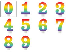 Load image into Gallery viewer, Rainbow Number Birthday Candle