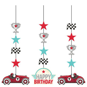 Vintage Race Car Hanging Cutouts