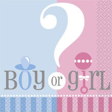 Load image into Gallery viewer, Boy or Girl Baby Shower/Gender Reveal Tableware Pattern