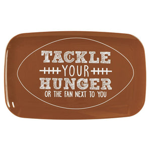 """Tackle Your Hunger"" Plastic Serving Tray"