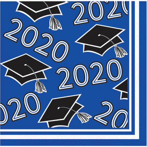 Class of 2020 Beverage Napkin 36ct Blue