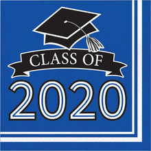 Load image into Gallery viewer, Class of 2020 Lunch Napkin 36ct Blue