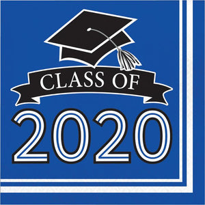 Class of 2020 Lunch Napkin 36ct Blue