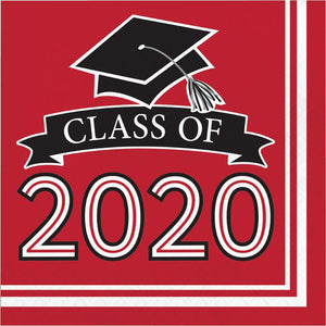 Class of 2020 Lunch Napkin 36ct Red