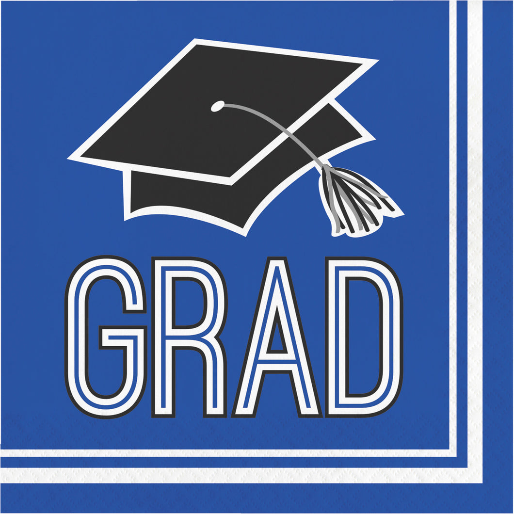 Congrats Grad Lunch Napkin 36ct Blue