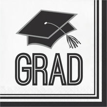 Load image into Gallery viewer, Congrats Grad Lunch Napkin 36ct White