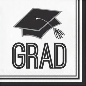 Congrats Grad Lunch Napkin 36ct White