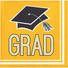 Load image into Gallery viewer, Congrats Grad Lunch Napkin 36ct Yellow