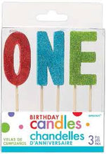 Load image into Gallery viewer, Glitter Birthday Age Candles