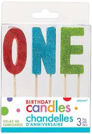 Glitter Birthday Age Candles