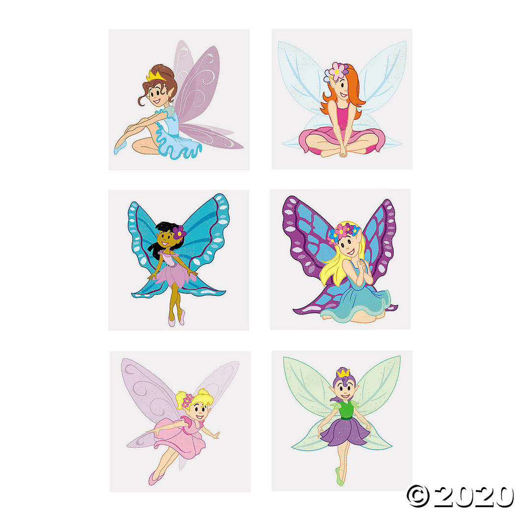 Fairy Princess Glitter Tattoos