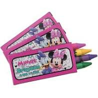 Minnie Mouse Crayon Favors