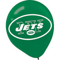 New York Jets Latex Balloons