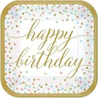 Load image into Gallery viewer, Confetti Fun Happy Birthday Tableware Pattern