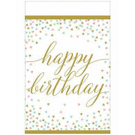 Confetti Fun Happy Birthday Tableware Pattern