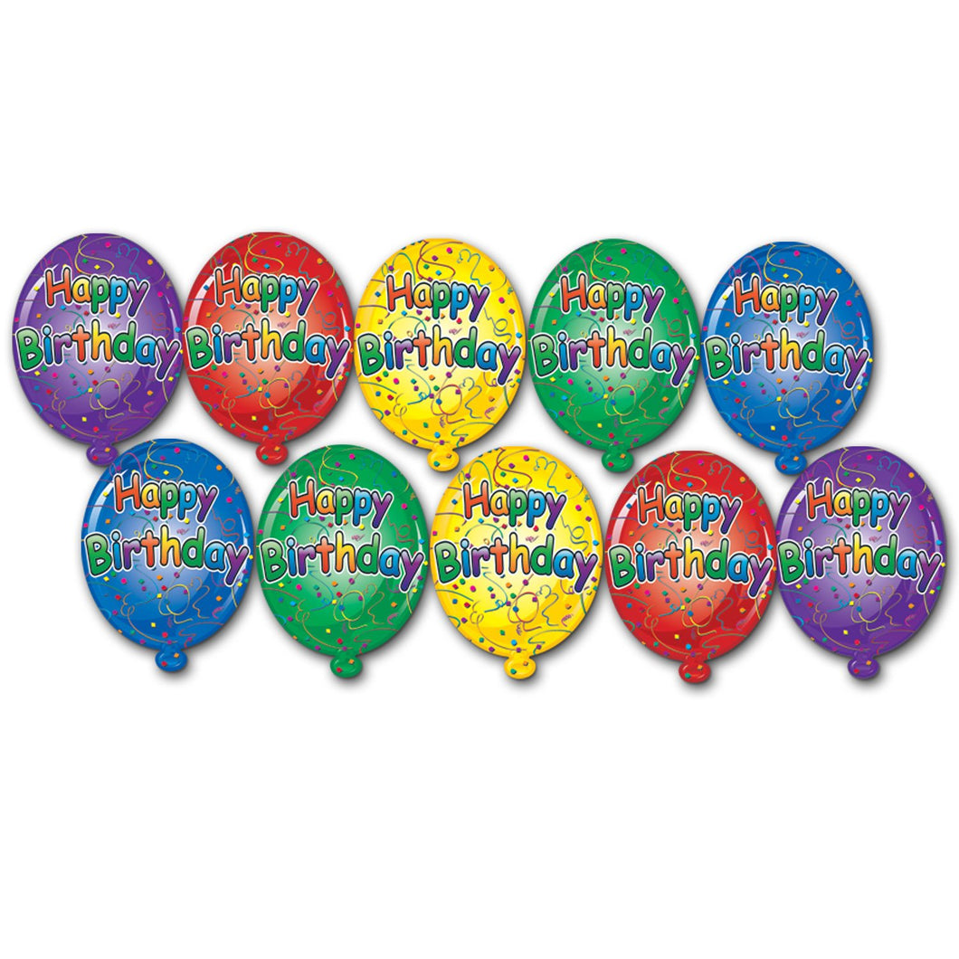 Mini Birthday Balloon Cutouts