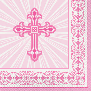 Religious Pink - Paper Lunch Napkins 16 ct.