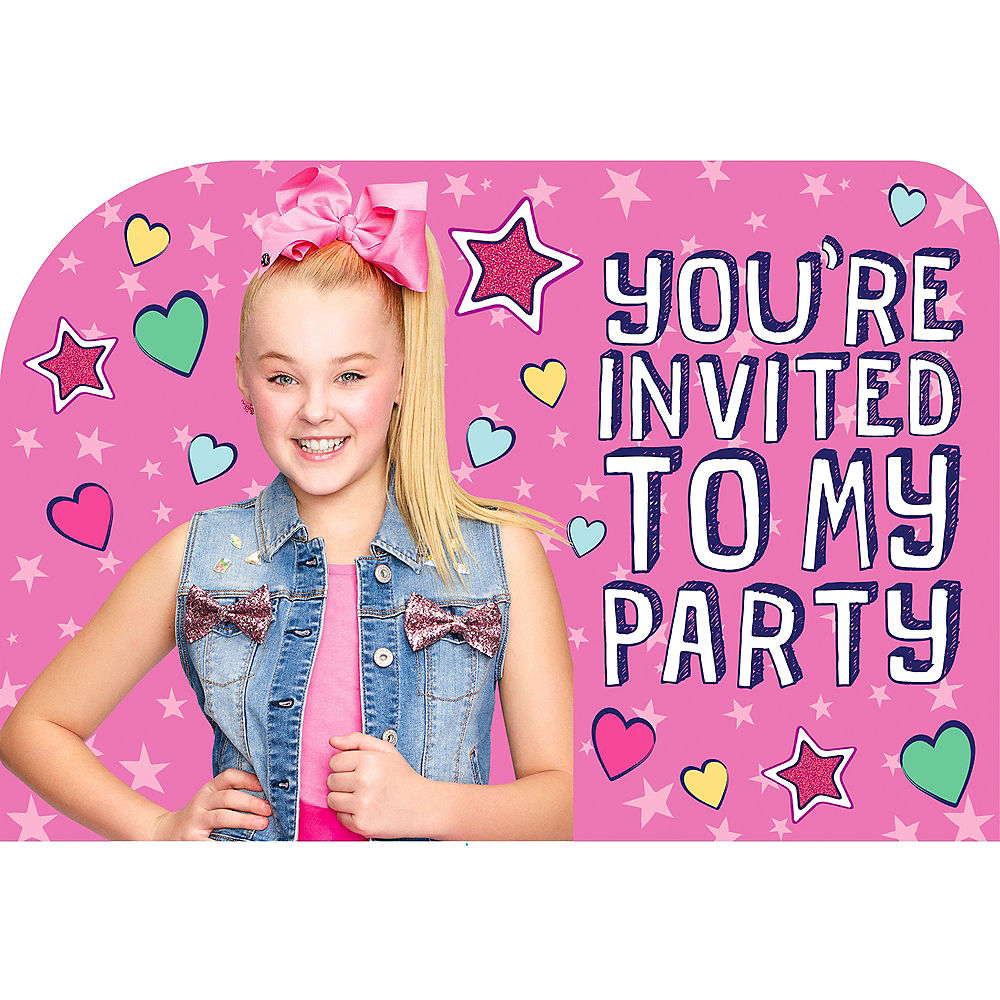 JoJo Siwa Party Invitations