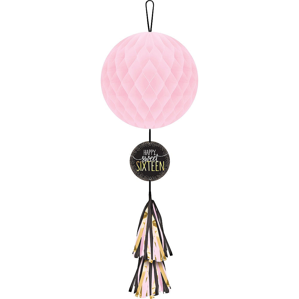 Sweet Sixteen Hanging Honeycomb Decoration