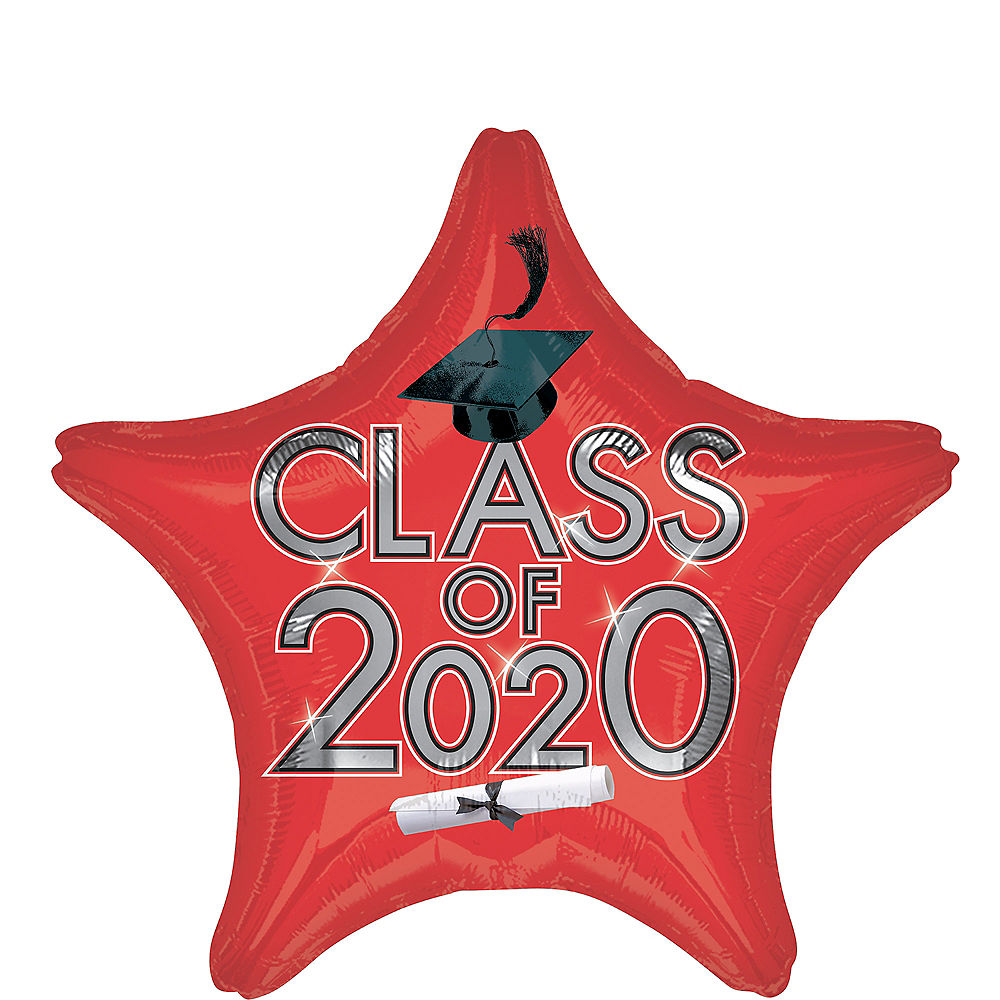 Class of 2020 Helium Foil Balloons