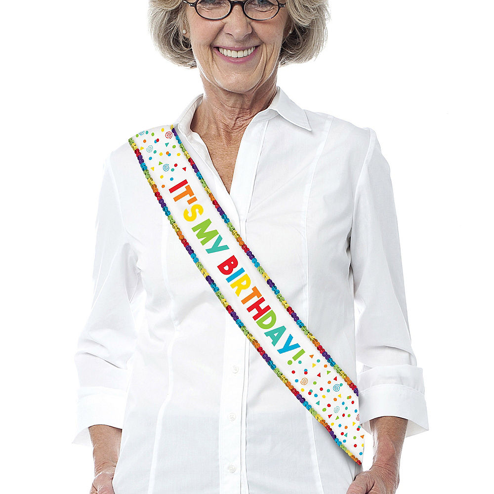 Rainbow Sequin Birthday Sash