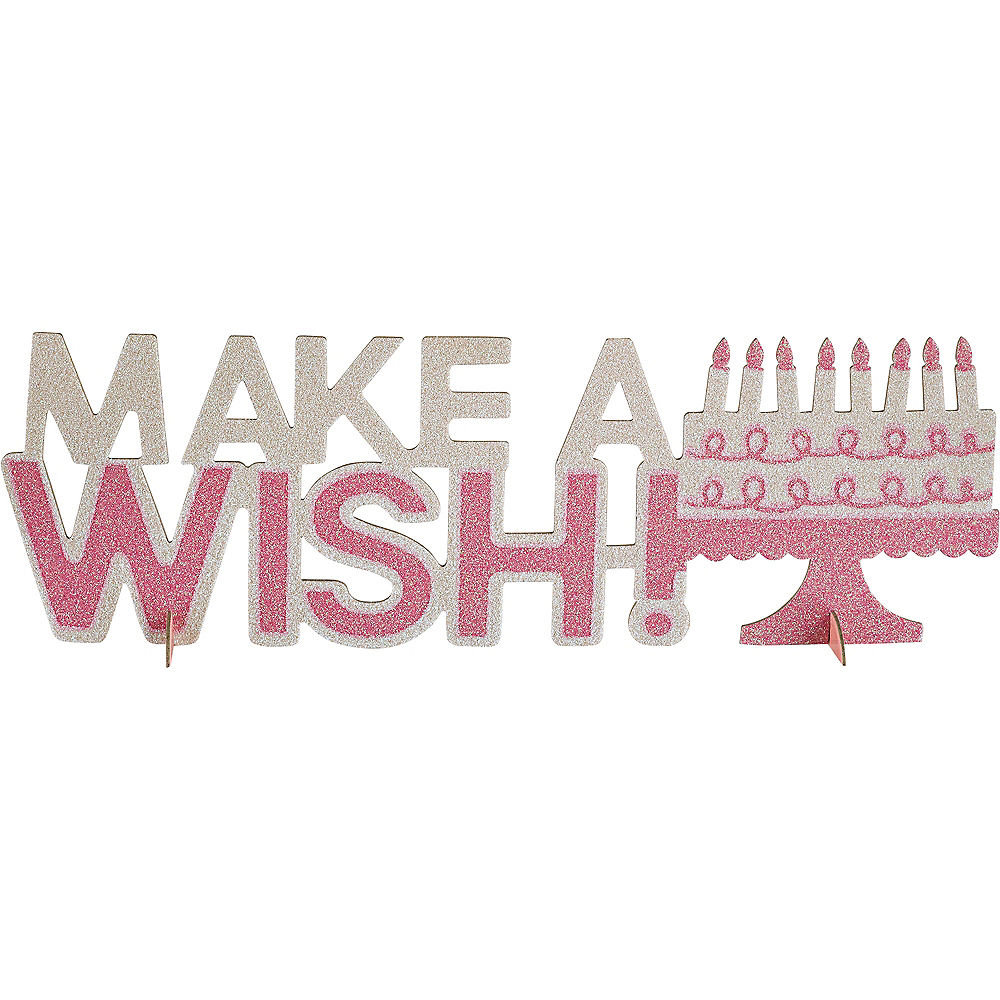 Make a Wish Birthday Table Decoration