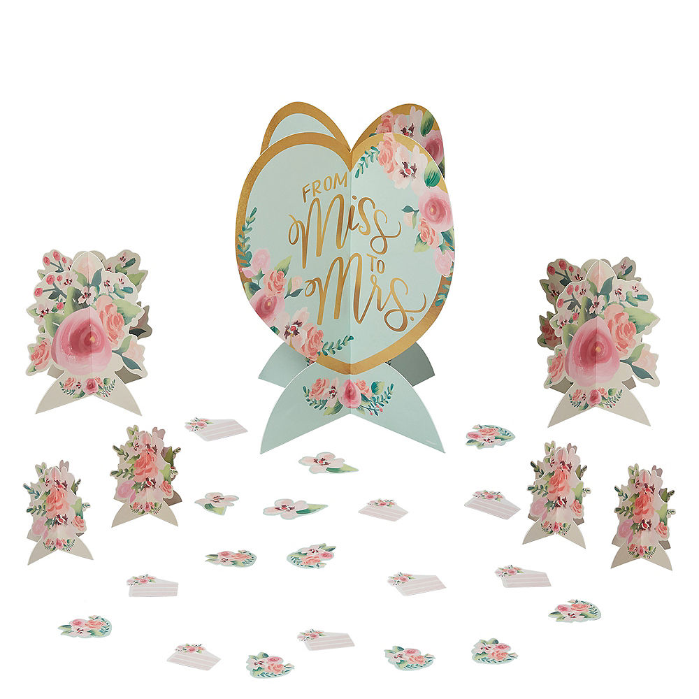 Mint to Be Floral Table Decorating Kit