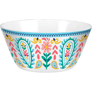 Boho Vibes Plastic Serving Bowl