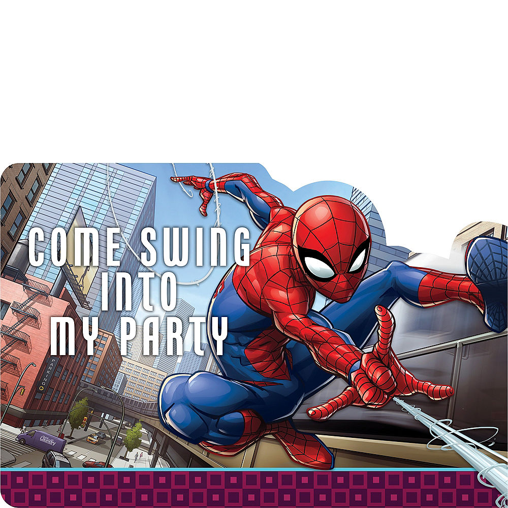 Spiderman Invitations, 8 ct.