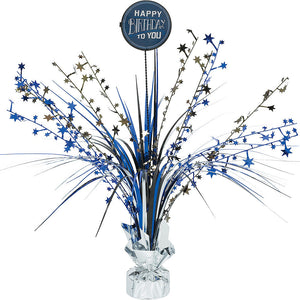 Black and Blue Add-Any-Age Spray Centerpiece